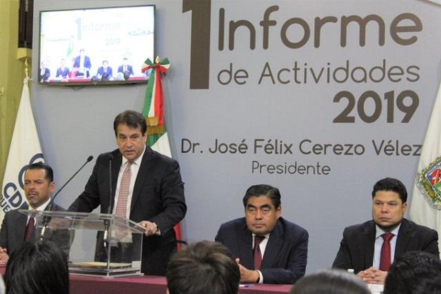 En informe, demanda la CDH de Puebla más presupuesto