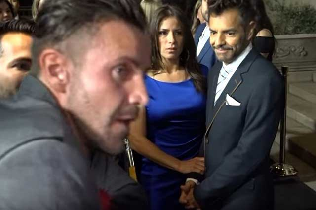 Eugenio Derbez dice que reportero estaba picando a Eduardo Yáñez