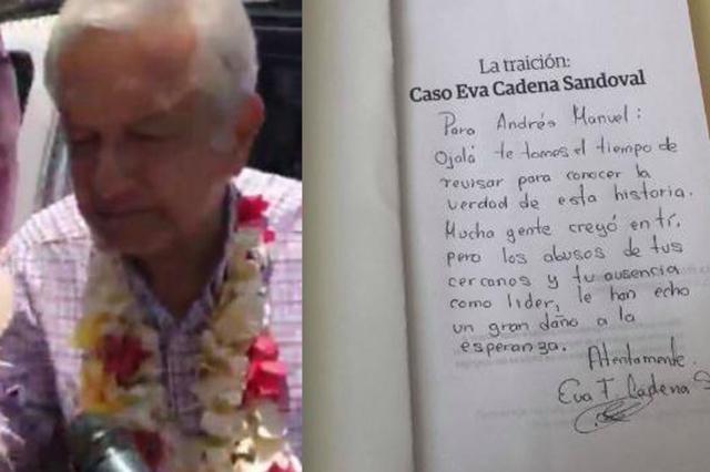 Eva Cadena afirma que se siente traicionada por AMLO