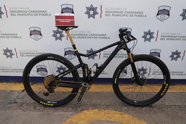 Recuperan bicicleta de montaña de 300 mil pesos, en Puebla