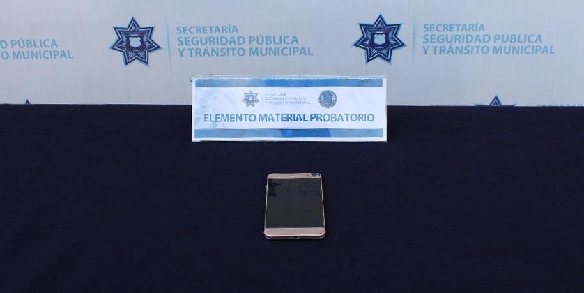 Detiene policía municipal a persona por robo a transporte público