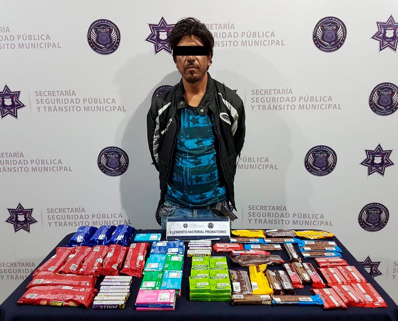 Cae otro ladrón de tienda  Oxxo en Centro Histórico de Puebla