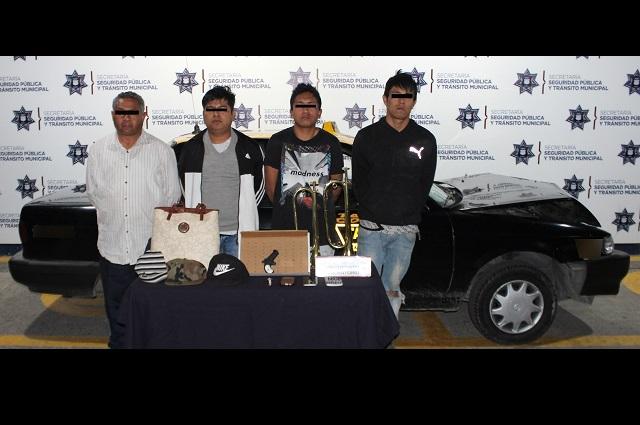 Desarticuló policía Puebla a banda de robo a transporte público