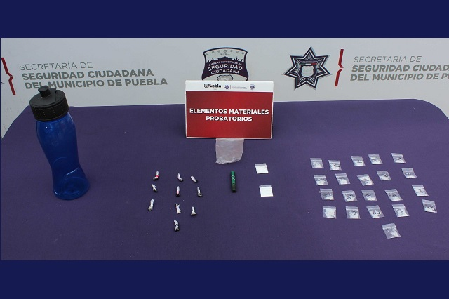 Capturan a adolescente con más de 30 dosis de droga en Puebla