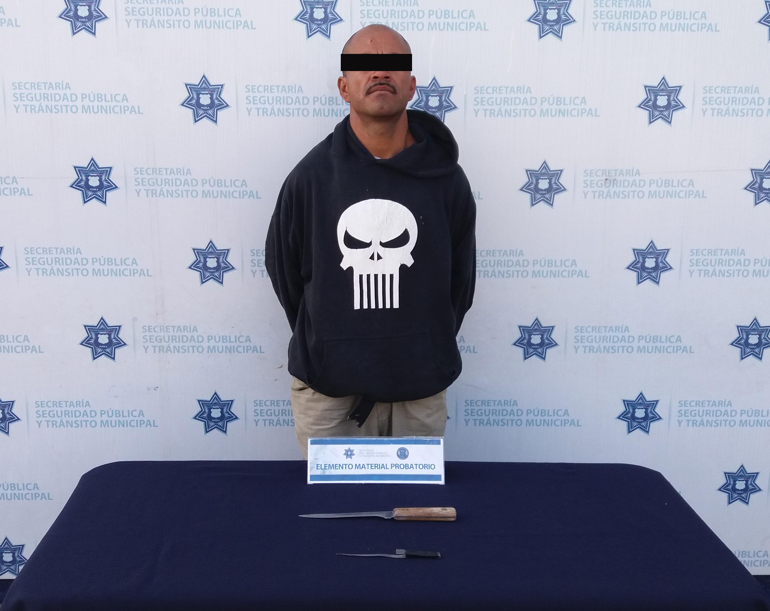 Por robo a repartidor, detienen  a sujeto en Totimehuacán