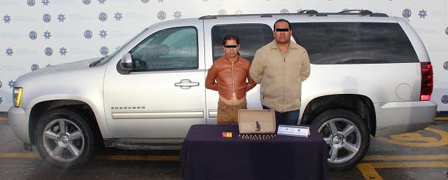 Detuvo SSPTM a dos personas por portación ilegal de arma de fuego