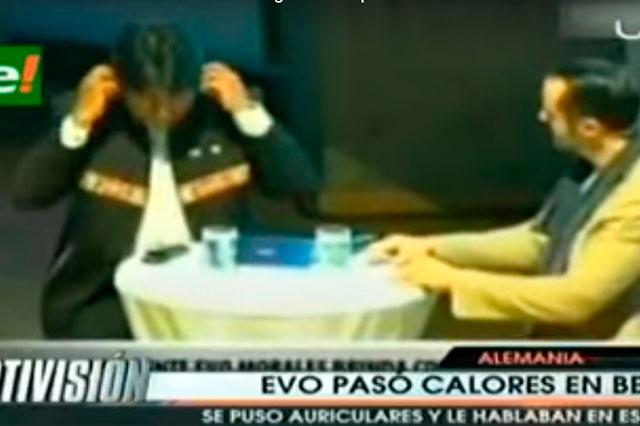 Evo Morales pide traducción en Alemania, pero le hablaban en español