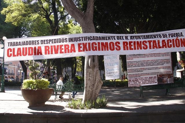 Regidores interceden por despedidos del ayuntamiento de Puebla