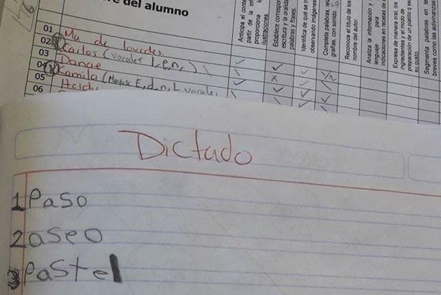 ¡Mira aquí el dictado de un niño que se ha vuelto viral!