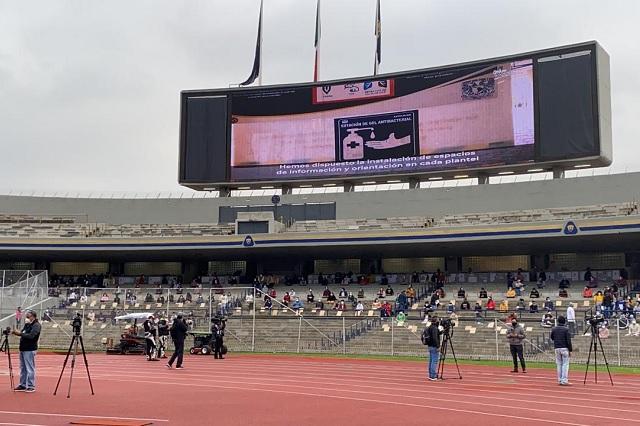 Así se vivió el examen para la UNAM desde el Estadio Olímpico