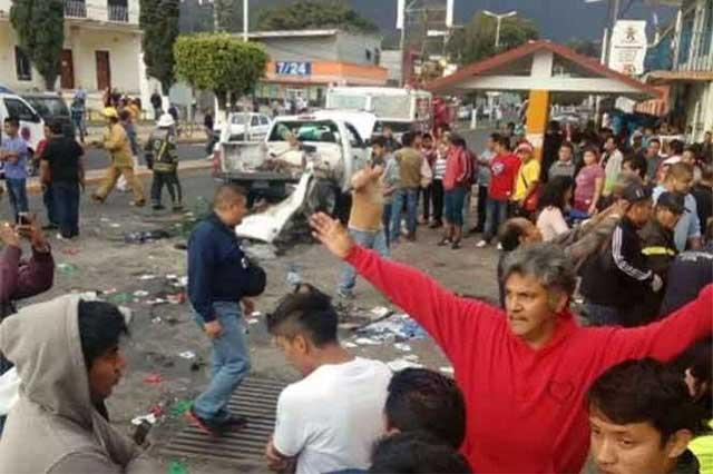 Explosión de tanque de gas mata a 2 niños peregrinos