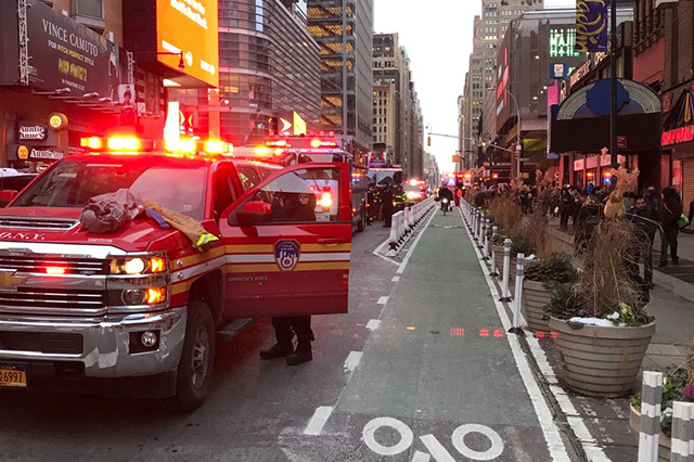 Graban video del momento de la explosión en Nueva York