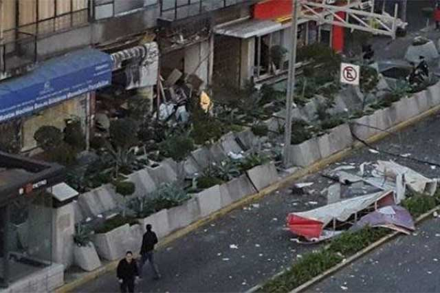Explosión en cafetería del DF deja un saldo de 10 heridos graves