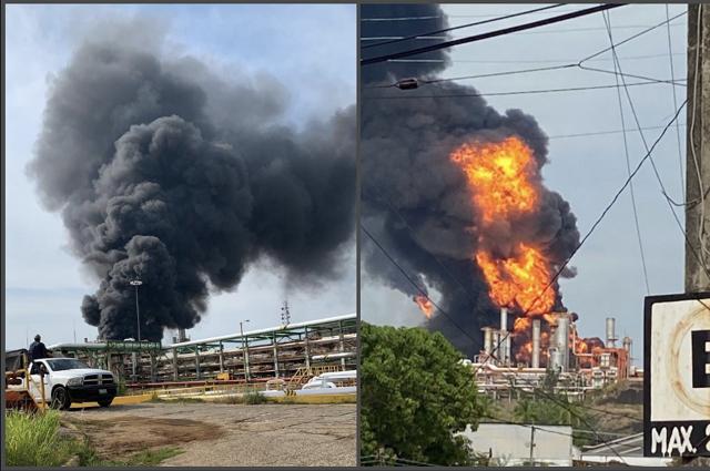 Alarma por explosión en Refinería de Minatitlán; hay 8 heridos