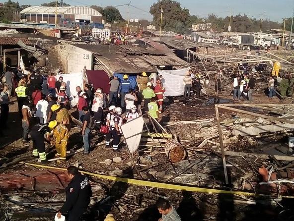 Cruz Roja reporta estables a heridos por explosión en Tultepec