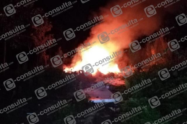 Tras robo fallido explota polvorín en Xiutetelco