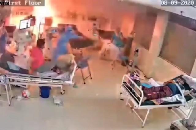 Ventilador mecánico explota en sala de pacientes Covid: Video
