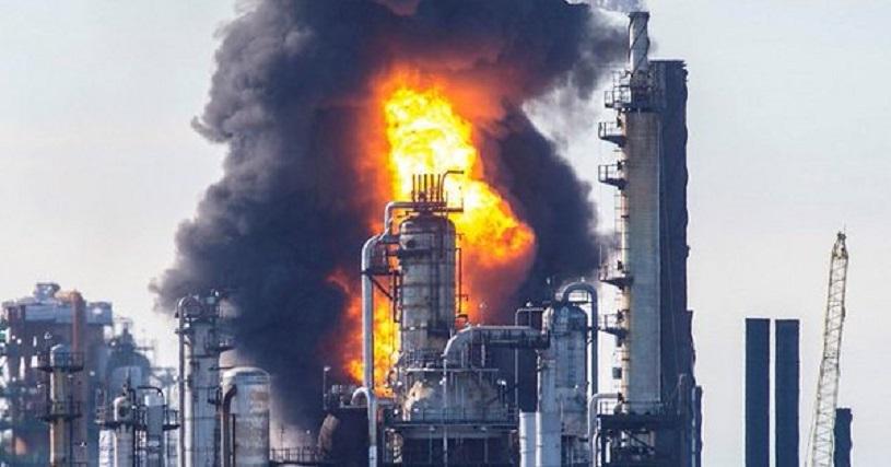 Reportan explosión e incendio en la refinería más grande de Canadá