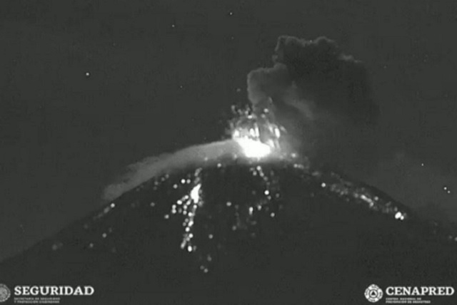 Explosiones en el Popocatépetl por destrucción del domo 85