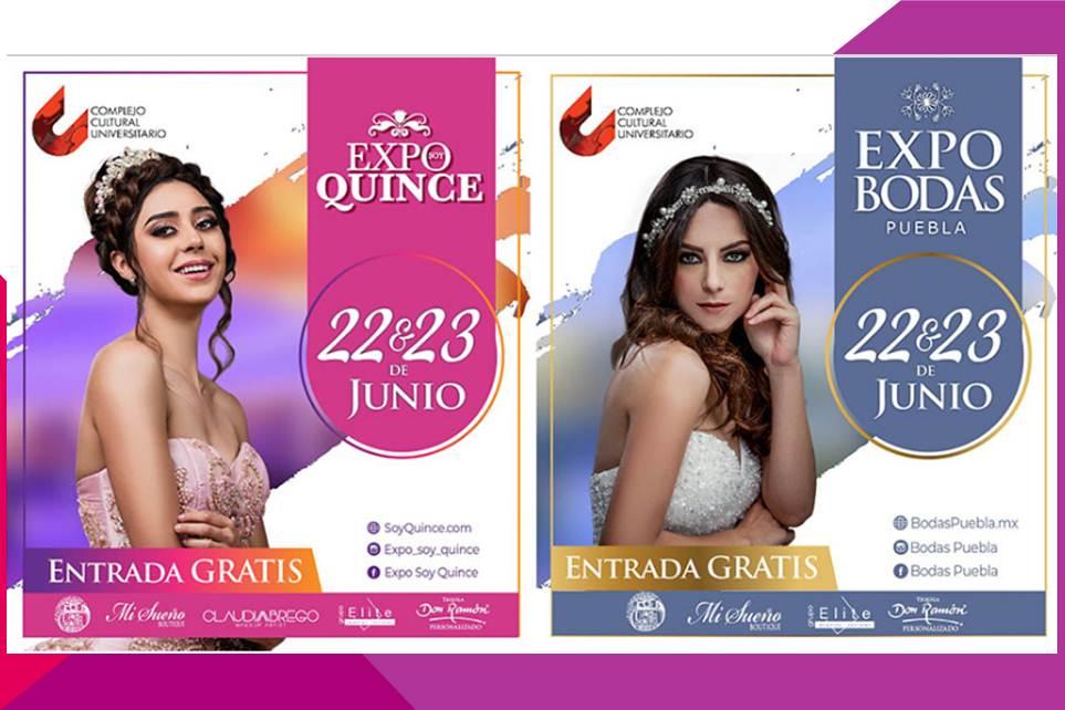 Expo Bodas Puebla / Expo Soy Quince en el CCU 22 y 23 de junio