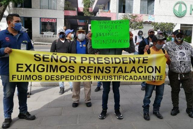 Exsindicalistas de la Comuna de Tehuacán piden reinstalación