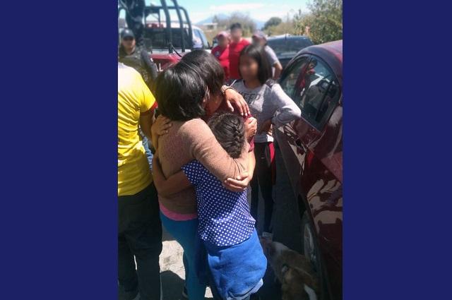 Localizan a dos niñas a punto de ser extorsionadas en Huejotzingo