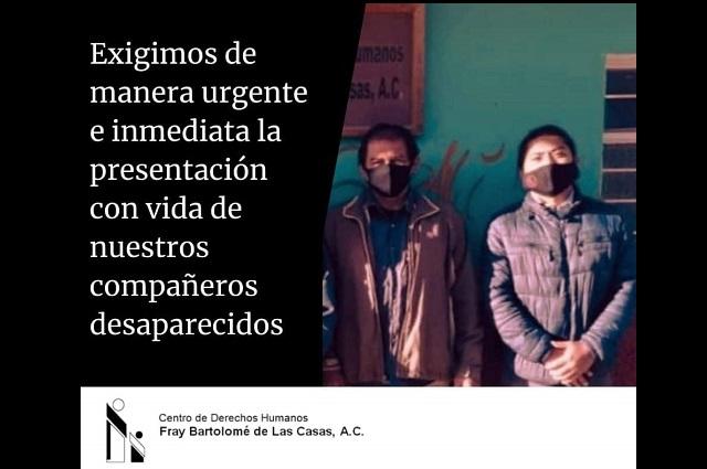 Secuestran a defensores de derechos humanos en Chiapas