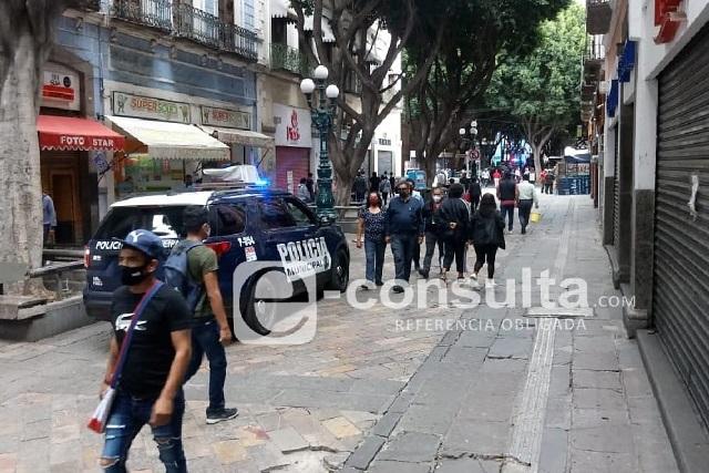 Impiden ambulantes en el Centro Histórico de Puebla
