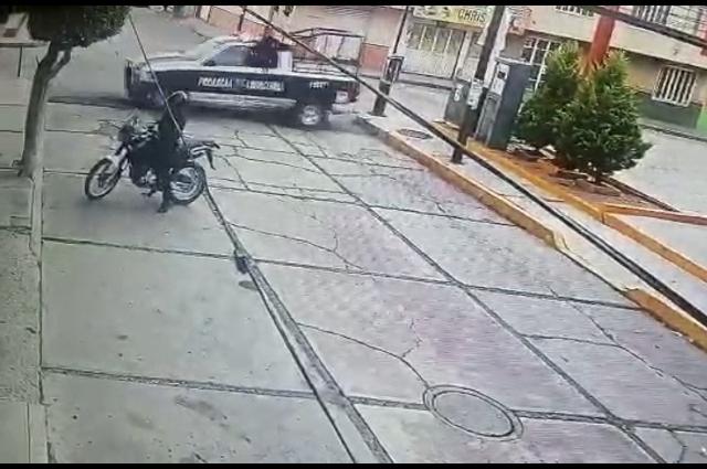 Muere asaltante tras robar tienda Oxxo en Texmelucan