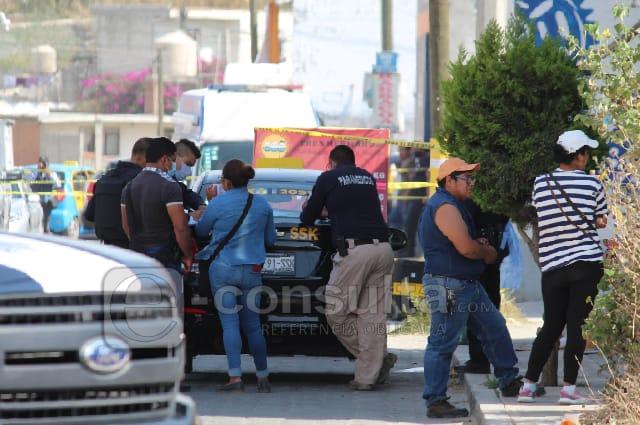 Acribillan a taxista frente a su esposa, en Cuautlancingo