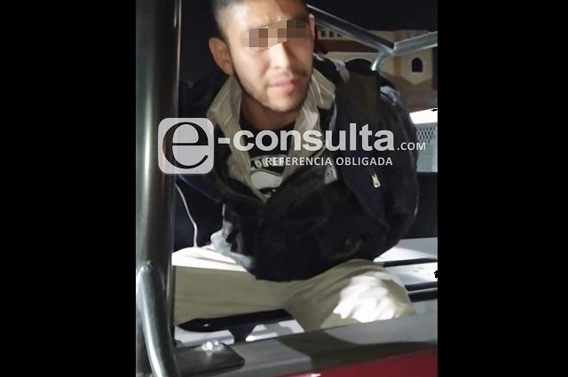 Lo atrapan tras dos robos a transeúnte, en Puebla