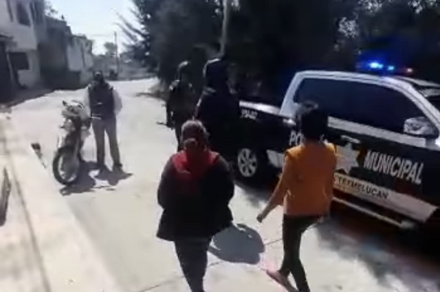 Por detener a ladrón se arma zafarrancho en Texmelucan