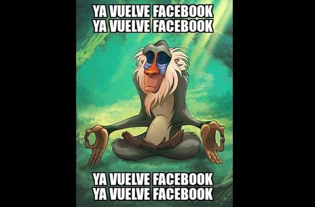 Facebook down (se cae) y usuarios lo reportan con memes