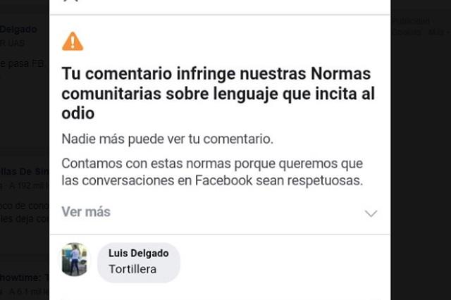 Facebook prohibe publicar 'tortillera' y te decimos por qué