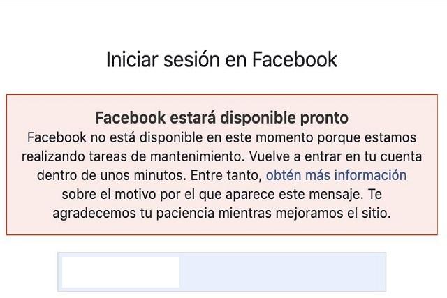 Facebook e Instagram nuevamente reportan fallas a nivel mundial