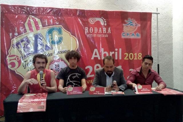 Anuncian la quinta edición del Festival de Artes Circenses