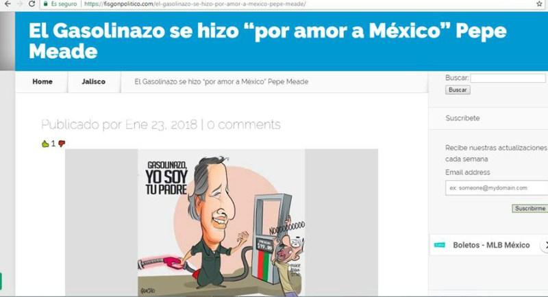 Fake News: El gasolinazo se hizo por amor a México: Meade