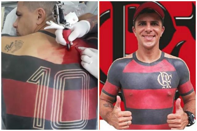 Este fan se tatuó completa la playera de su equipo