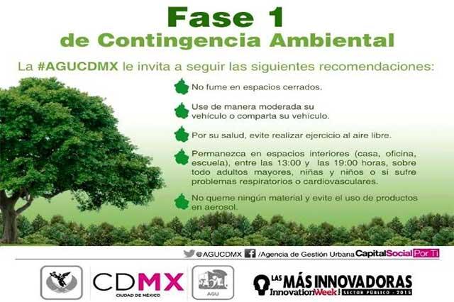 Continúa la Fase I de la contingencia ambiental en la CDMX