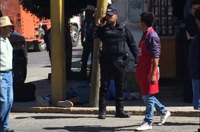 Matan a policía de Tecamachalco en el centro de Tepeaca