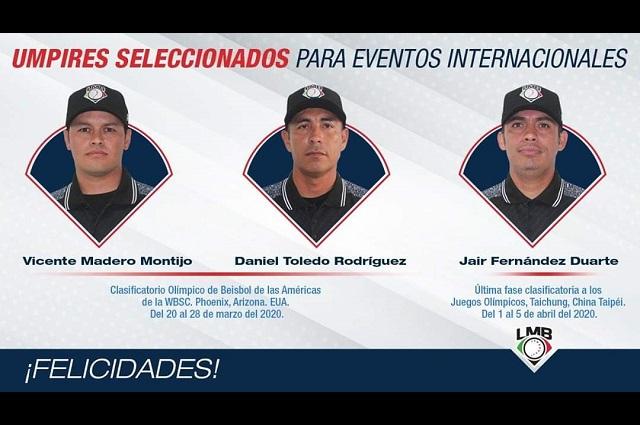 Umpires mexicanos representarán el béisbol nacional en Tokio 2020