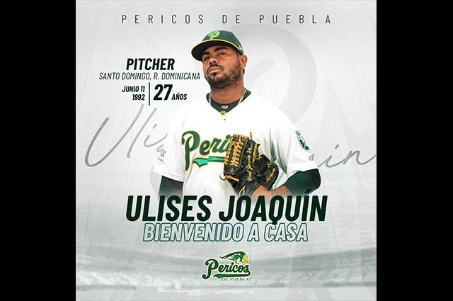 Llega el pitcher dominicano Ulises Joaquín a Pericos de Puebla