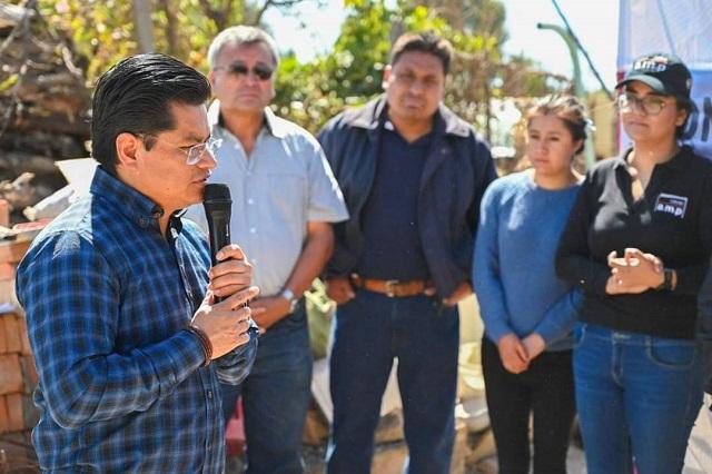 Edil de Coronango anuncia obra para complejo de seguridad