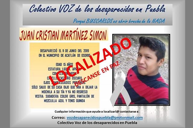 Hallan muerto a joven en Acatlán tras 10 meses desaparecido