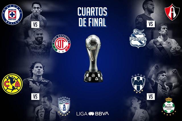 Liga MX: Definen fechas y horarios para los cuartos de final