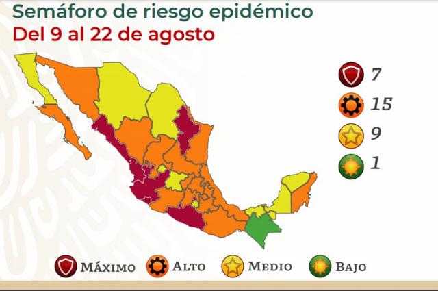 Puebla vuelve a semáforo naranja y carece de vacunas