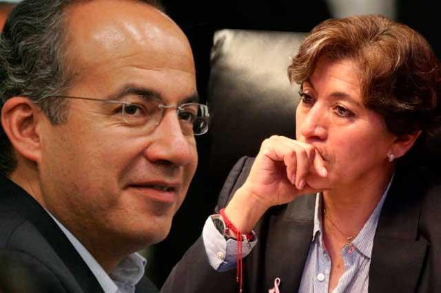 Calderón pide cárcel para Delfina Gómez por desvíos a su campaña