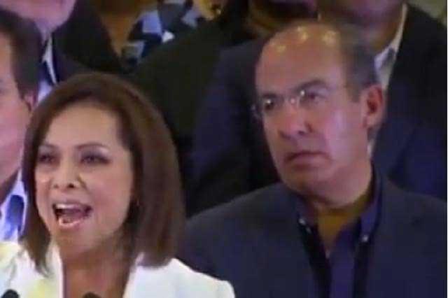 ¿Estaba Felipe Calderón borracho en evento de Josefina Vázquez Mota?