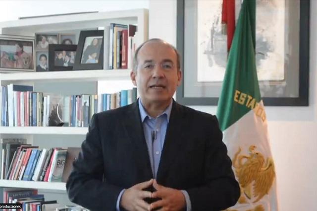 He pagado impuestos desde los 16 años, le revira Calderón a AMLO