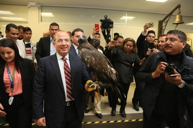 A mí no me queda el saco y a otros el cargo les queda grande: Calderón